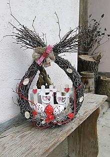 Dekorácie - závesné veľkonočné vajíčko - 10524182_