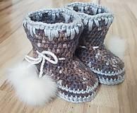 Topánočky - Čižmy  s brmbolčekom - 10523978_