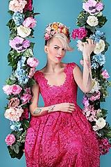 Ozdoby do vlasov - kvetinový polvenček - 10524038_