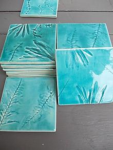 Dekorácie - Keramické kachličky- bylinky - 10522802_