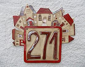 Tabuľky - Popisné číslo na dom- bronzové - 10522874_