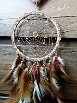 Dekorácie - Lapač snov - indiánske srdce - 10522034_