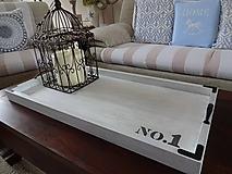 Nádoby - Vidiecky biely maxi podnos - 10523776_