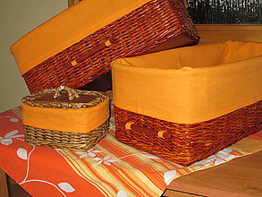 Košíky - Košíky - Čerešňové v oranžovej košíeľke - 10524084_
