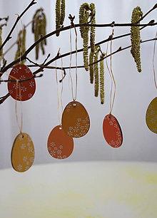 Dekorácie - Veľkonočné vajíčka drevené - 10522414_