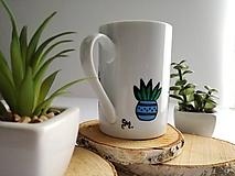 Nádoby - Rastliny v kvetináči - maľovaný hrnček - 10523060_