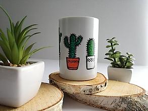 Nádoby - Kaktus - maľovaný hrnček - 10522867_