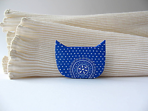 Odznaky/Brošne - ,,Mačka modrotlačka,, - 10524540_