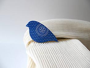 Odznaky/Brošne - ,,Pipi-folk,,modrá - 10524751_