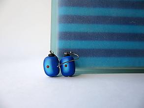 Náušnice - ,,Modré blendované,, - 10524846_