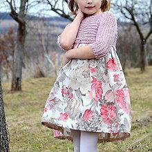 Detské oblečenie - šaty PRINCESS pivonkové - 10523538_