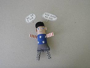 Magnetky - Chlapec - textilná magnetka - 10524024_