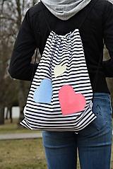 - Batoh/backpack farebné srdiečka - 10521787_