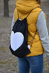 Batohy - Batoh/backpack biele srdce - 10524815_