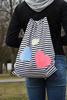 Batohy - Batoh/backpack farebné srdiečka - 10521787_