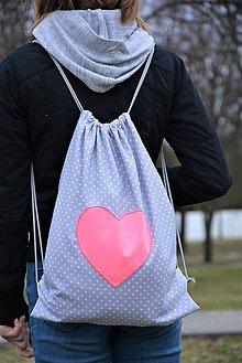 Batohy - Batoh/backpack ružové srdce I - 10521937_