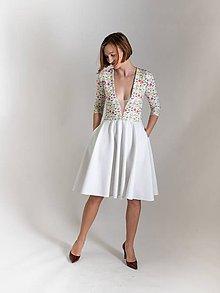 Šaty - Rozkvetlé-biobavlna - na míru/více barev - 10521858_