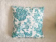 Úžitkový textil - dekoračný vankúš tyrkysový - 10523513_