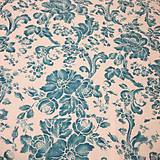 Úžitkový textil - dekoračný vankúš tyrkysový - 10523514_