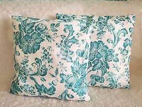 Úžitkový textil - dekoračný vankúš tyrkysový - 10523512_