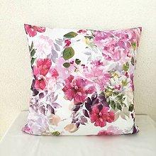 Úžitkový textil - dekoračný vankúš foto kvety - 10523673_