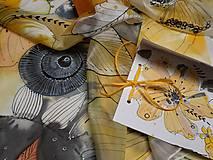 Šatky - Hodvábna šatka - slnko - 10522161_