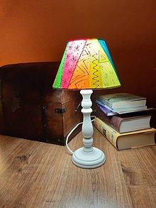 Svietidlá a sviečky - Maľované stolné lampy - Boho - 10522124_