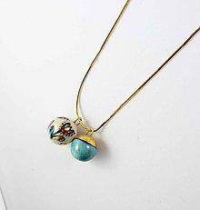 Náhrdelníky - Tana šperky - keramika/zlato - 10521936_