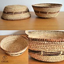 Nádoby - Rustic Straw Plate | Pletená miska - 10525135_