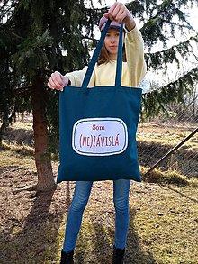 Nákupné tašky - Plátenka (Som (ne)závislá) - 10521949_