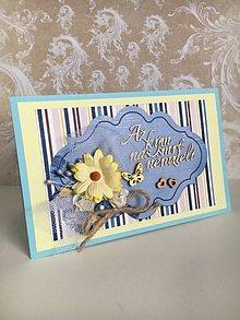 Papiernictvo - Svadobná pohľadnica Dve srdcia - 10523123_
