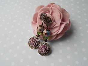 Náušnice - Kráľovná vo Versailles (náušničky s prstienkom) - 10523570_