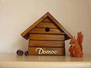 Pre zvieratká - Vtáčia búdka DOMOV - 10524204_