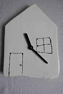 Hodiny - Hodiny keramické - domček - 10523249_