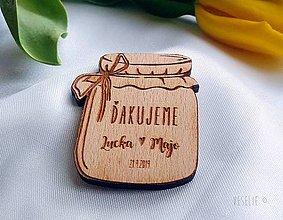 Darčeky pre svadobčanov - Svadobná magnetka alebo menovka . Zavarené šťastie - 10524428_