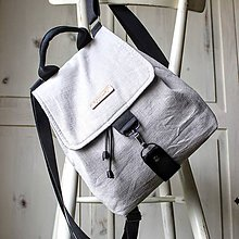Batohy - Ľanový midi batôžtek *šedý* - 10522176_