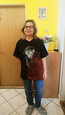 Oblečenie - Pánske tričko s indiánskym motívom - 10524162_