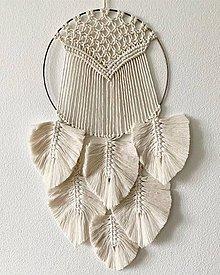 Dekorácie - Kruh s boho pierkami - 10525059_