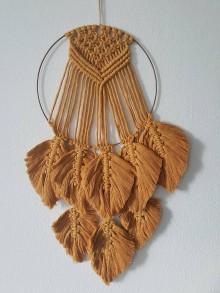 Dekorácie - Kruh s boho pierkami - 10525061_