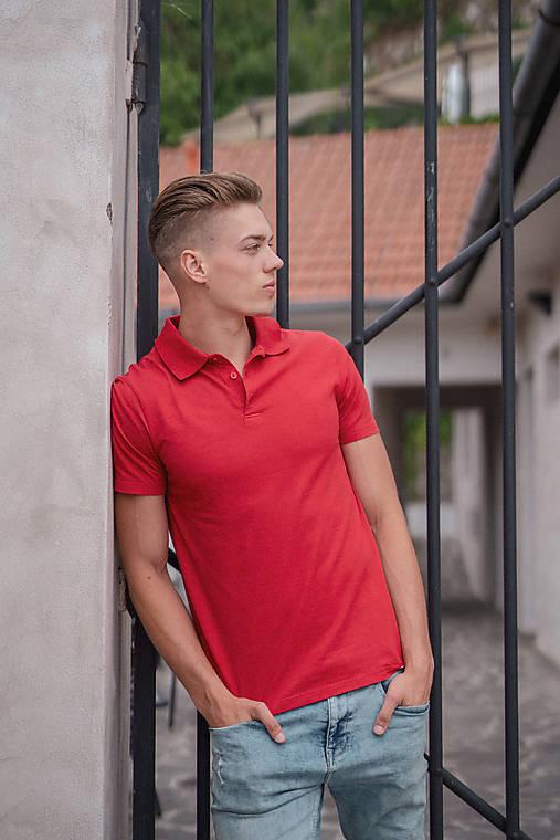 7c7198c9487f Pánske pólo tričko červené   PLZR - SAShE.sk - Handmade Oblečenie