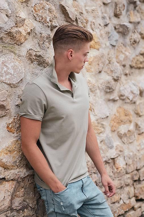 2d2bd503af7f Pánske pólo tričko olivovo zelené   PLZR - SAShE.sk - Handmade Oblečenie