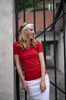 Tričká - Dámske pólo tričko červené - 10523970_