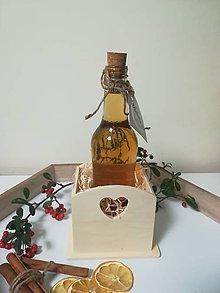 Potraviny - Medovina v drevenom stojane - darčekové balenie - 10525120_