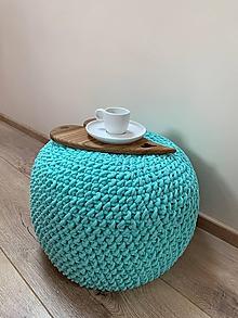 Úžitkový textil - Háčkovaný Puf - 10521743_