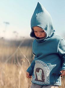 Detské oblečenie - Pro skřítčí chlapečky - s laní a jelenem - 10524755_
