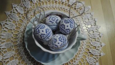 """Dekorácie - Orieškové """"vajíčka"""" (Modrá) - 10522439_"""