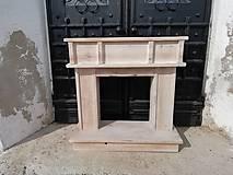 Dekorácie - Krbovy portál. výpredaj 1ks - 10522288_