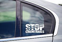 Iné doplnky - Nálepky na auto - Stop chemtrails - 10523635_