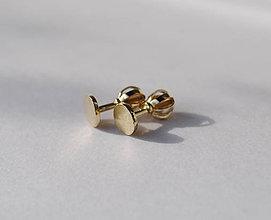 Náušnice - Kolieska...Pale (5mm) - 10528831_