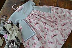 Detské oblečenie - šatky (s monogramom) - 10525642_